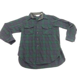 Woolrich Wool Plaid Long Sleeve Shirt Vintage 60s